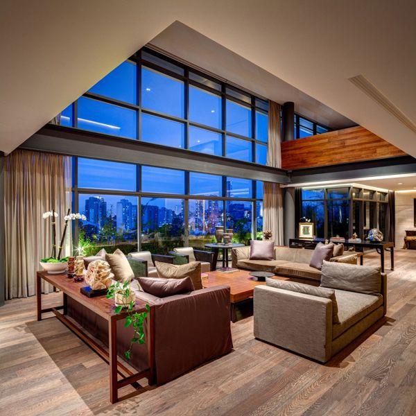 Sala Doble Altura Awesome Interiors En 2019 Fachadas