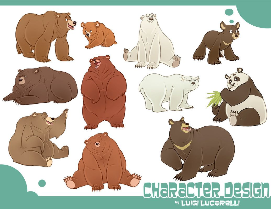 Cartoon Animal Character Design : One of luigi lucarelli s vidoes on character shape