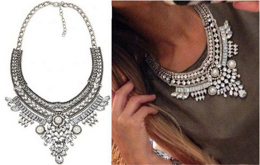 Fashion Bohemian Bib Choker Chunky Statement Necklace Chain Women Jewelry Gift