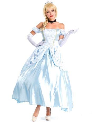 UK Adult Cosplay Costume+petticoat Disney Princess Snow White Frozen Dresses