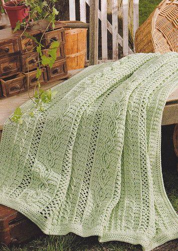 Crochet Pattern Celtic Cables Afghan Ebay Crochet Pinterest