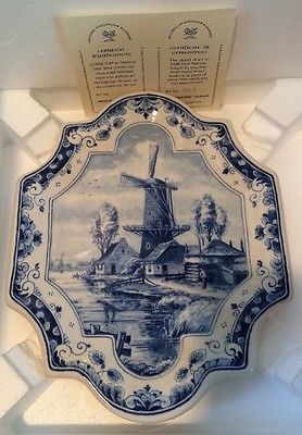 Westraven Original Delftsblauw Handwerk Wall Tile Blue And White China Blue And White Duck Egg Blue