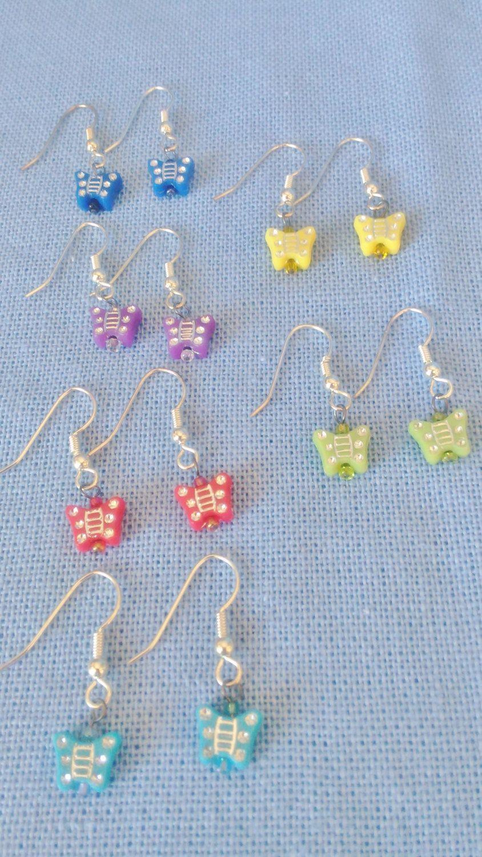 $8 Butterfly Earrings,girl's Earrings,kids Jewelry,children's Jewelry,little  Girls Earrings