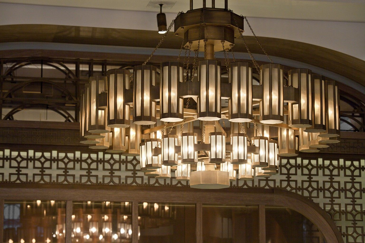 Coffeemania Lasvit Ceiling Lights Glass Chandelier Glass Installation