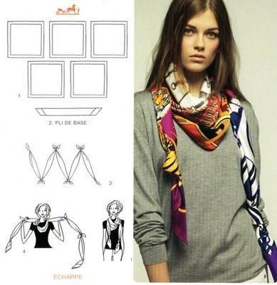 f08c80dec3cf A lezione di foulard, direttamente da Hermes   fashion   Pinterest ...