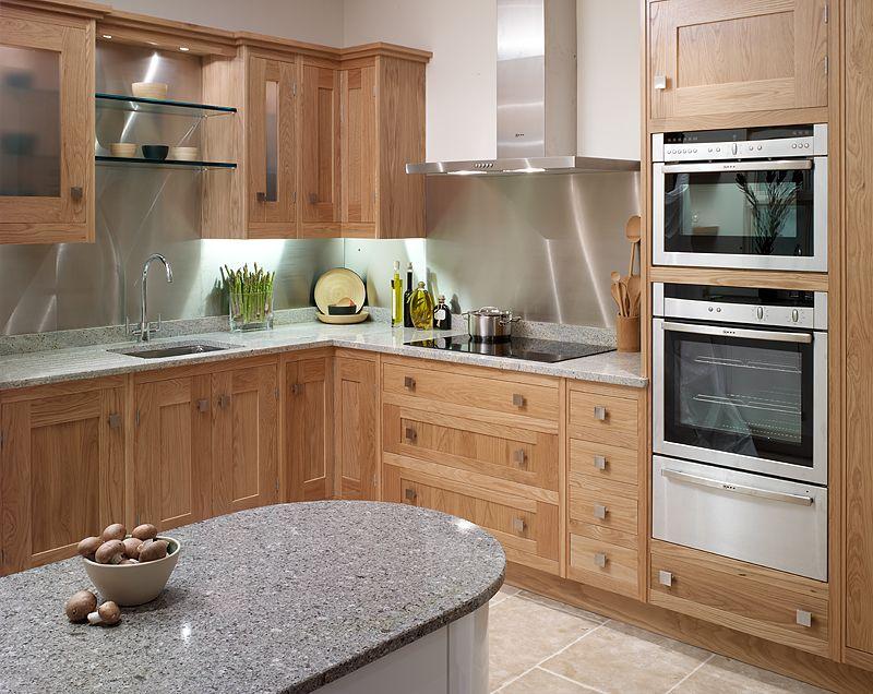 Oak Kitchen with White Appliances | ... White Oak ...