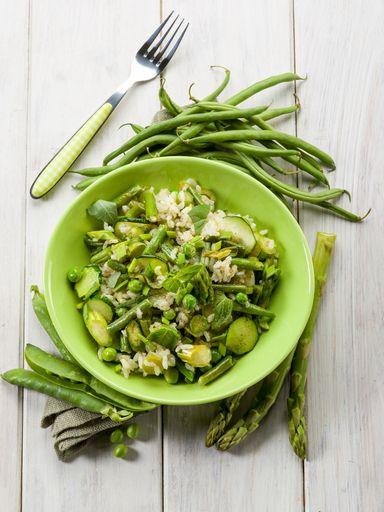 Risotto aux légumes verts - à tester