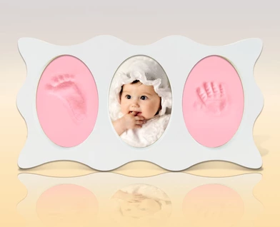 Baby hand and foot prints mold frames for a great baby gifts and ...