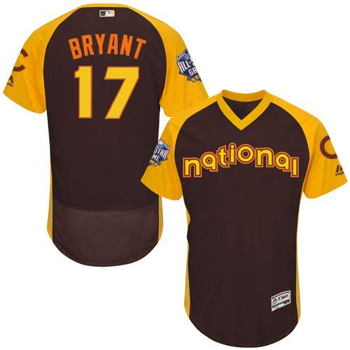 Kris Bryant Brown 2016 MLB All-Star Jersey - Men's National League Chicago Cubs #17 Cool Base Game Collection