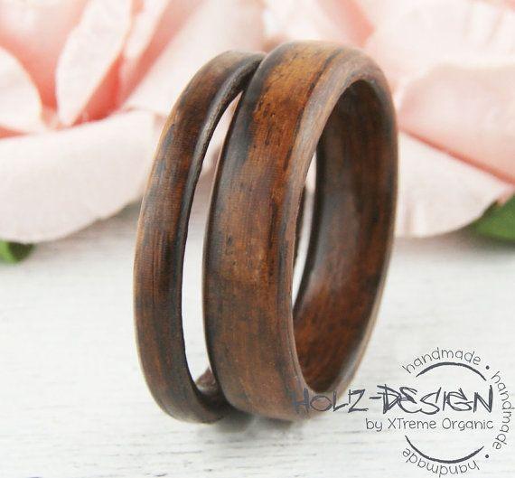 Palisander Bentwood Holz Ringe Eheringe von