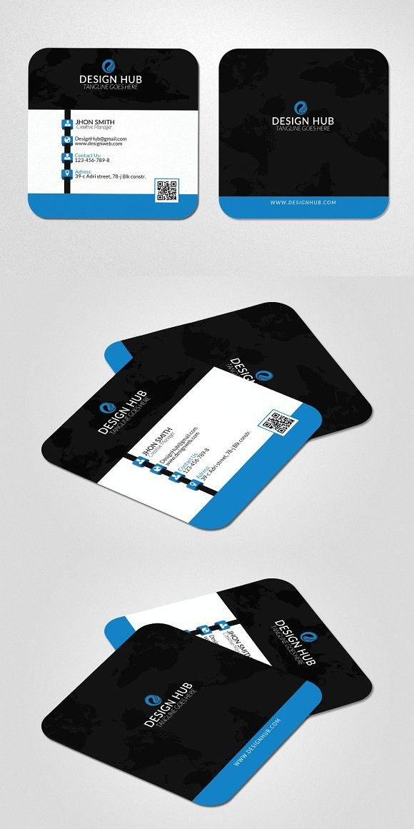 Mini Social Business Card Template  Social Business Card