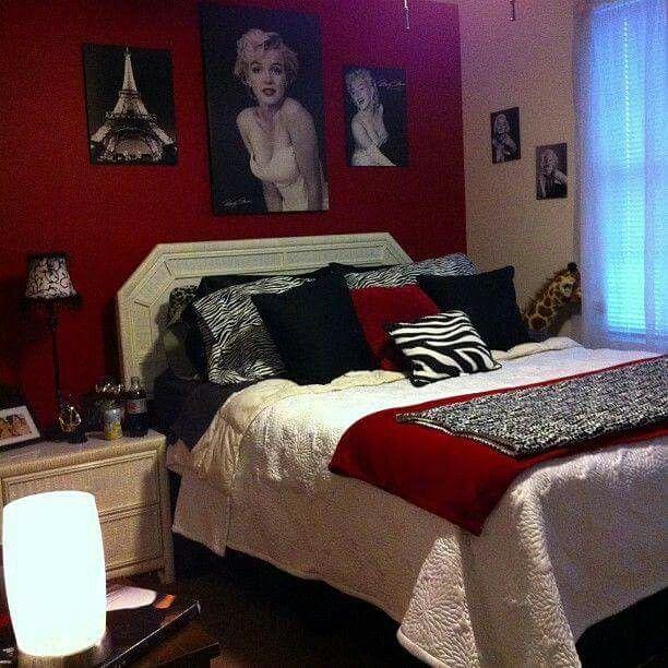Red Black Woman Bedroom Bedroom Red Marilyn Monroe Room