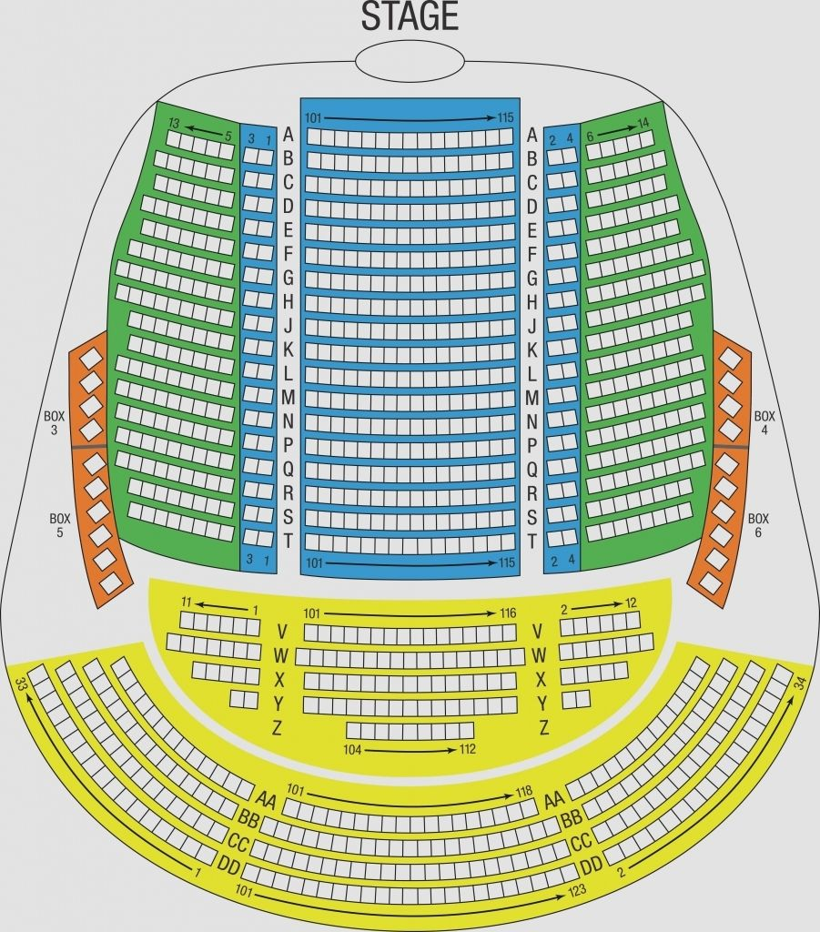 denny sanford seating chart Seating Chart