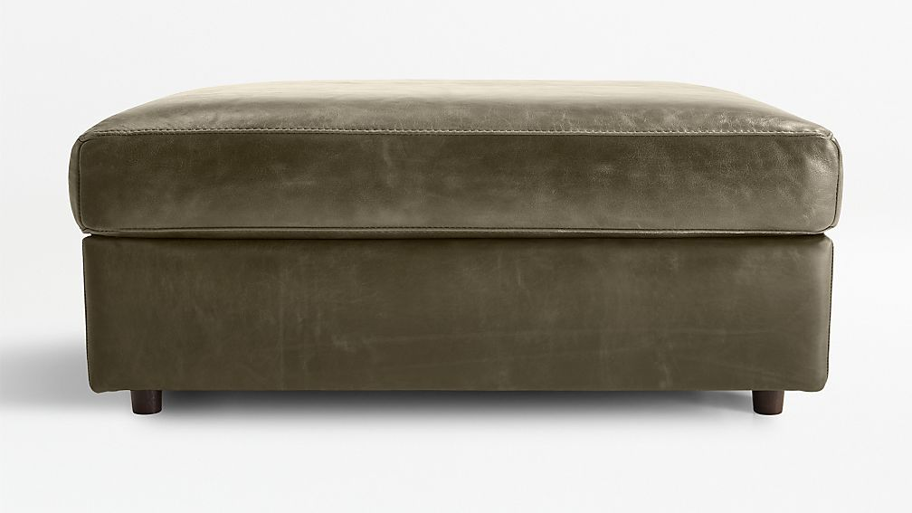 Barrett leather ottoman and a half reviews crate and