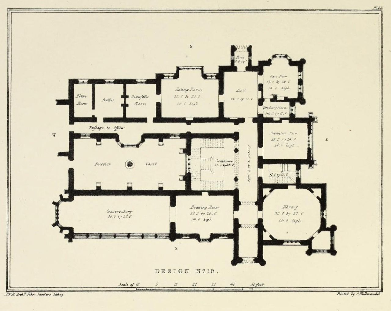 Floor plan for a country estate, England Architectural