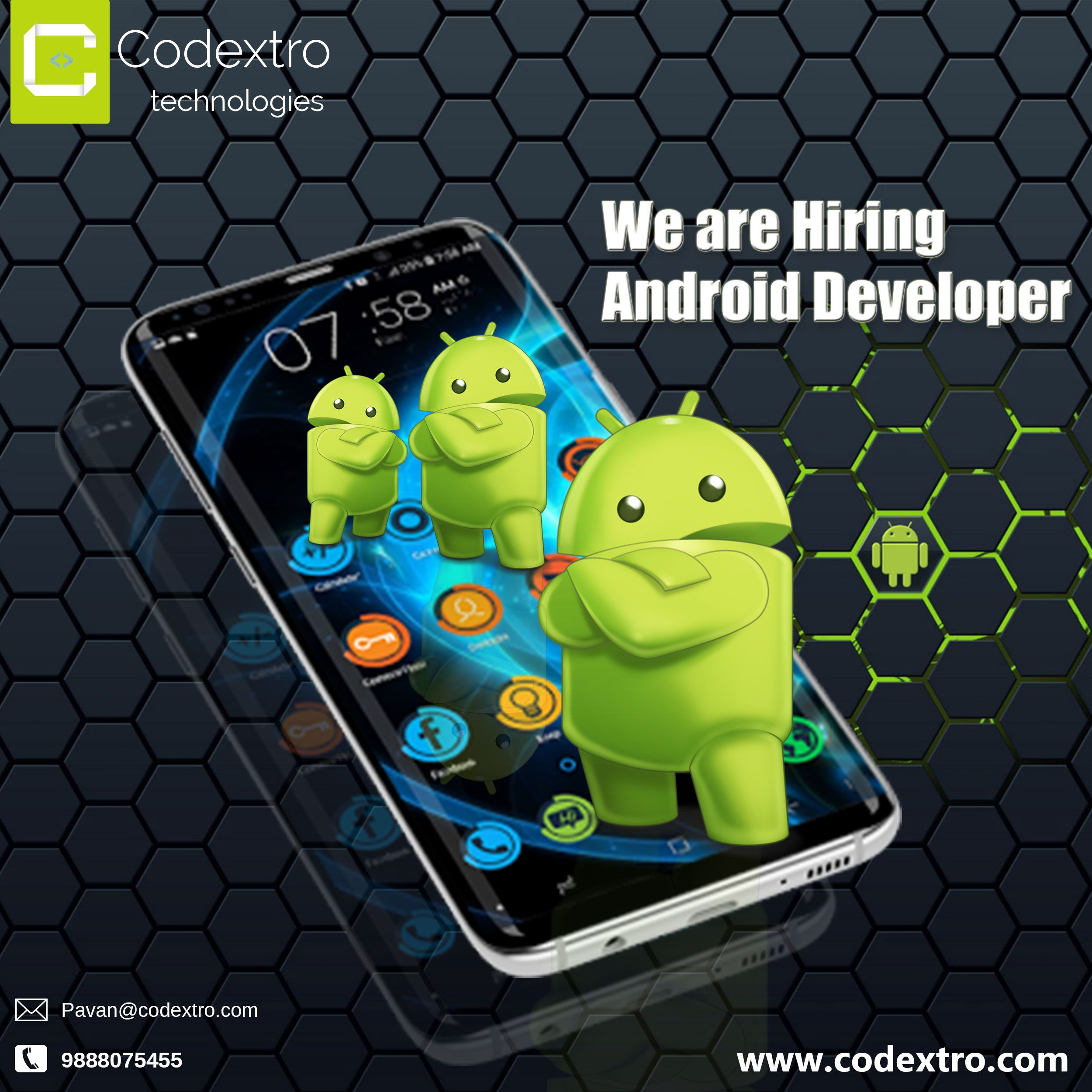 We are Hiring Android Developer 1.5 to 2 Yr Exp. Salary