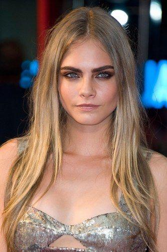 Cara Delevingne hair: Model chic locks | Cara delevingne hair. Brown eyes blonde hair. Hair goals color
