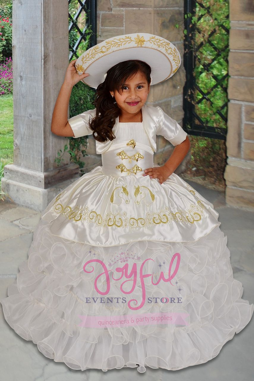 8c4df7bb1 vestidos de nina charra para presentacion de 3 anos FLOWER GIRL DRESS   FGD032GD