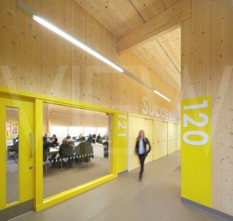 View Into Classroom Corridor Waingels College Reading United Kingdom