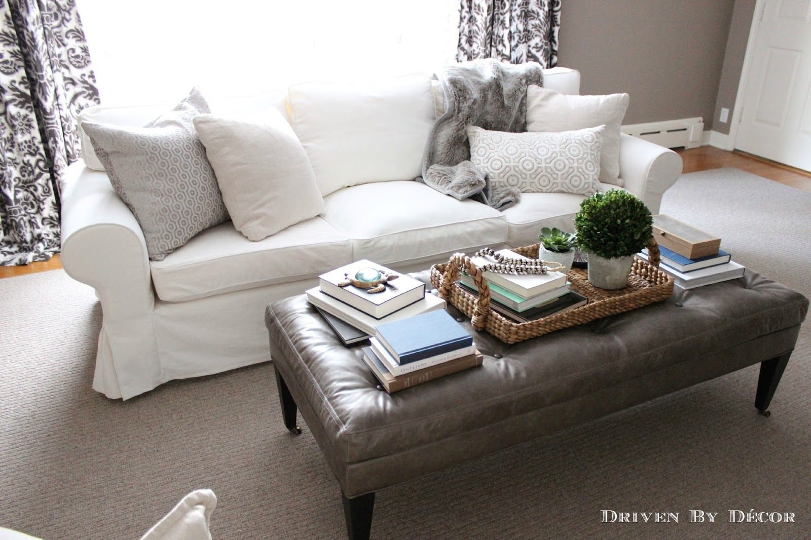 How we supersized our ikea ektorp sofa decorating it - How can we decorate our living room ...