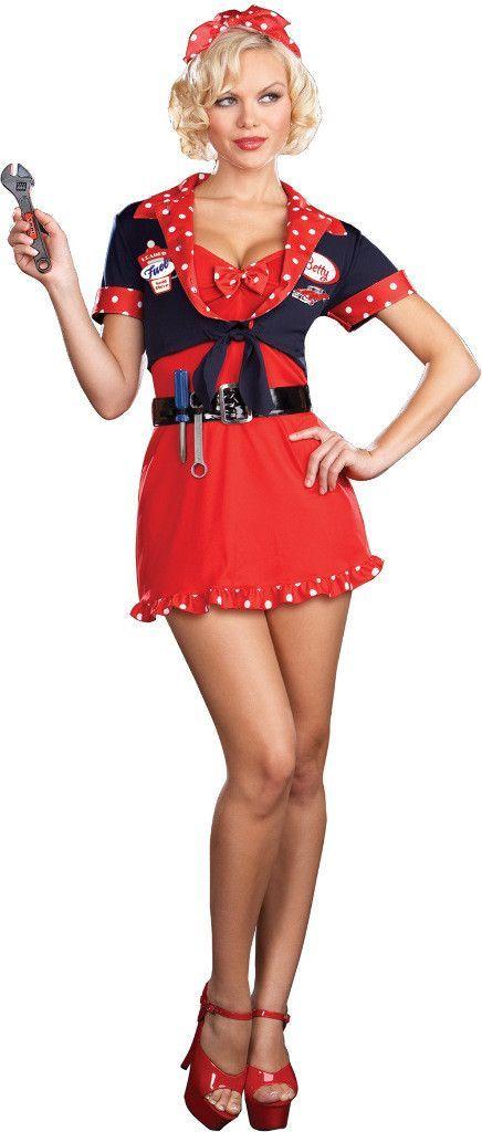 women's costume: betty's full service | large