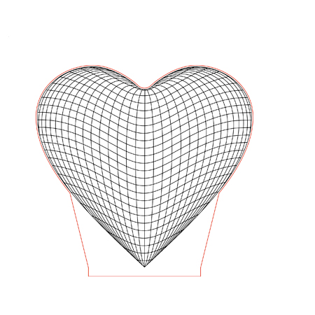 Big Heart 3d Illusion Lamp Plan Vector File For Laser And Cnc 3bee Studio 3d Illusion Lamp 3d Illusions Illusions