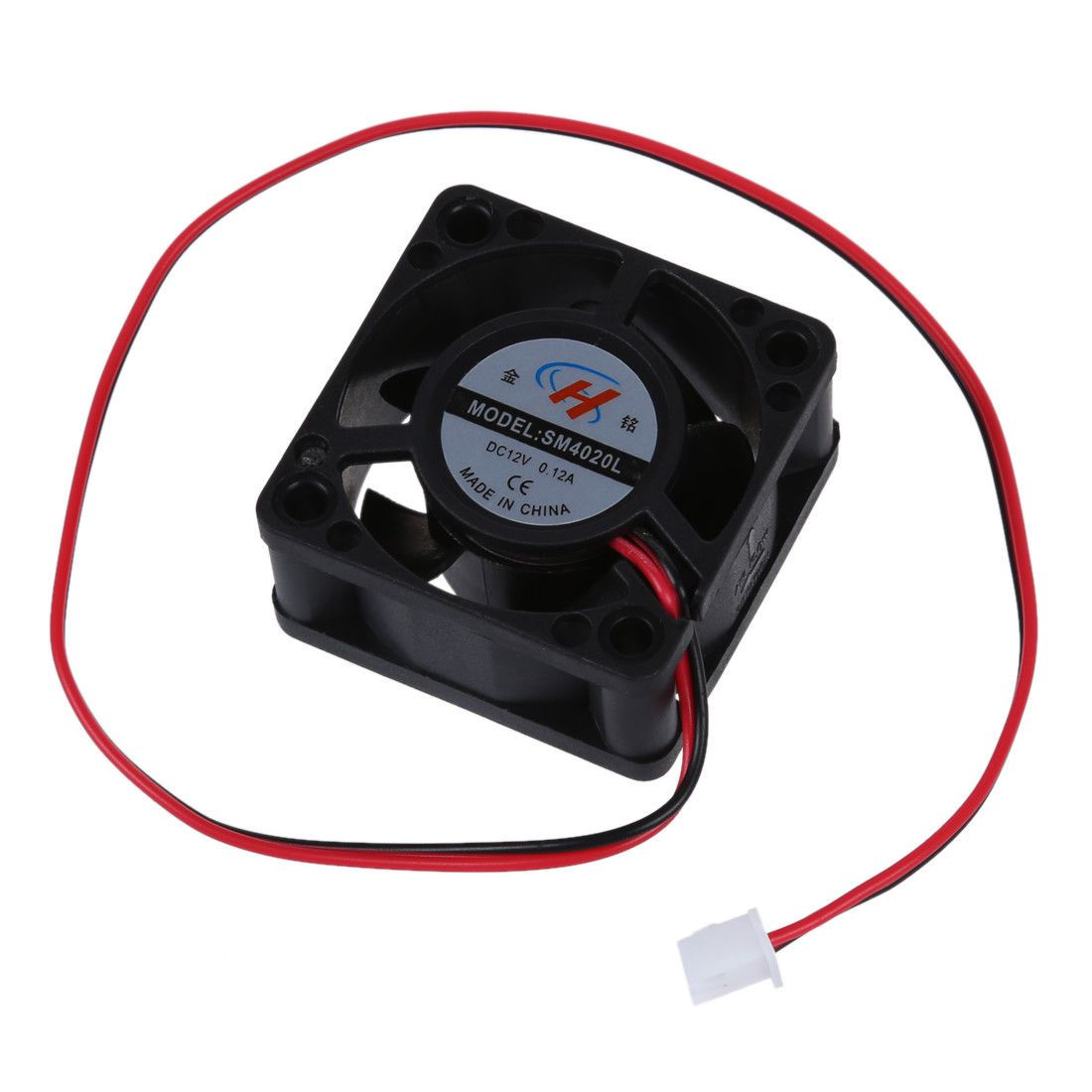 small resolution of  1 58 aud black plastic 12v dc 40mm 20mm 2 wire computer pc cpu cooling case fan v9b6 ebay electronics