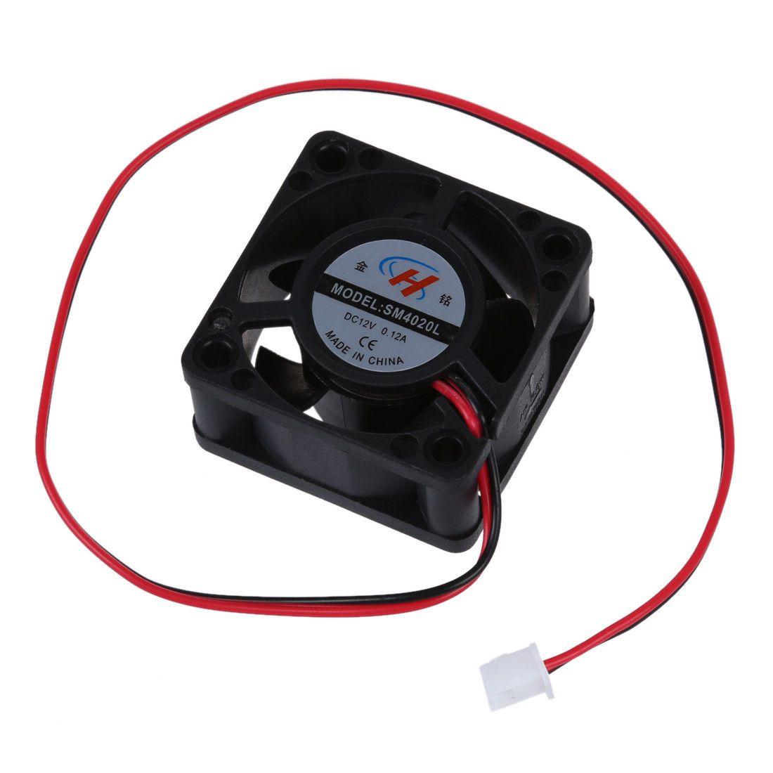 medium resolution of  1 58 aud black plastic 12v dc 40mm 20mm 2 wire computer pc cpu cooling case fan v9b6 ebay electronics