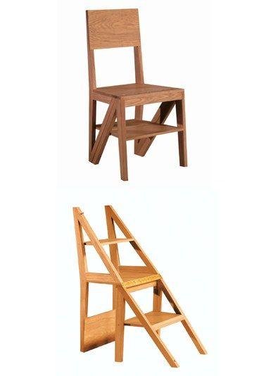 Morelato sedia e scala salvaspazio mobili salvaspazio for Mobili di design d occasione
