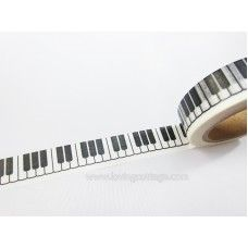 Somitape Black and White Piano Keyboard