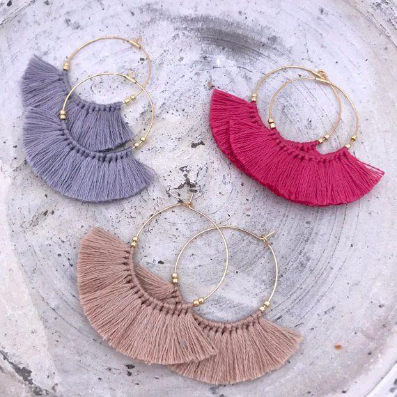 Trois couches Tassel Boucles d/'oreilles fait main Bohème pendants d/'oreille accessoires de mode