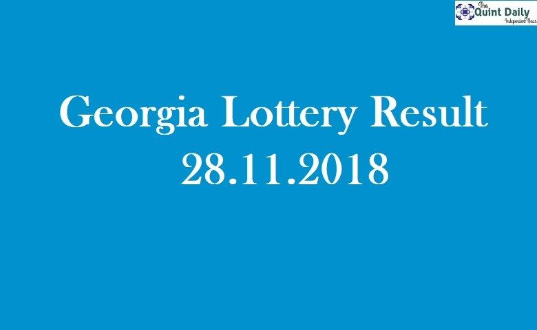Lottery Result 28.11.2018 GA Lottery Results Live