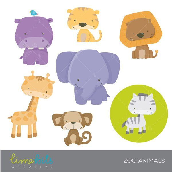 Zoo Animals Clipart Cute Animal Clipart Animal Clipart Zoo Animals