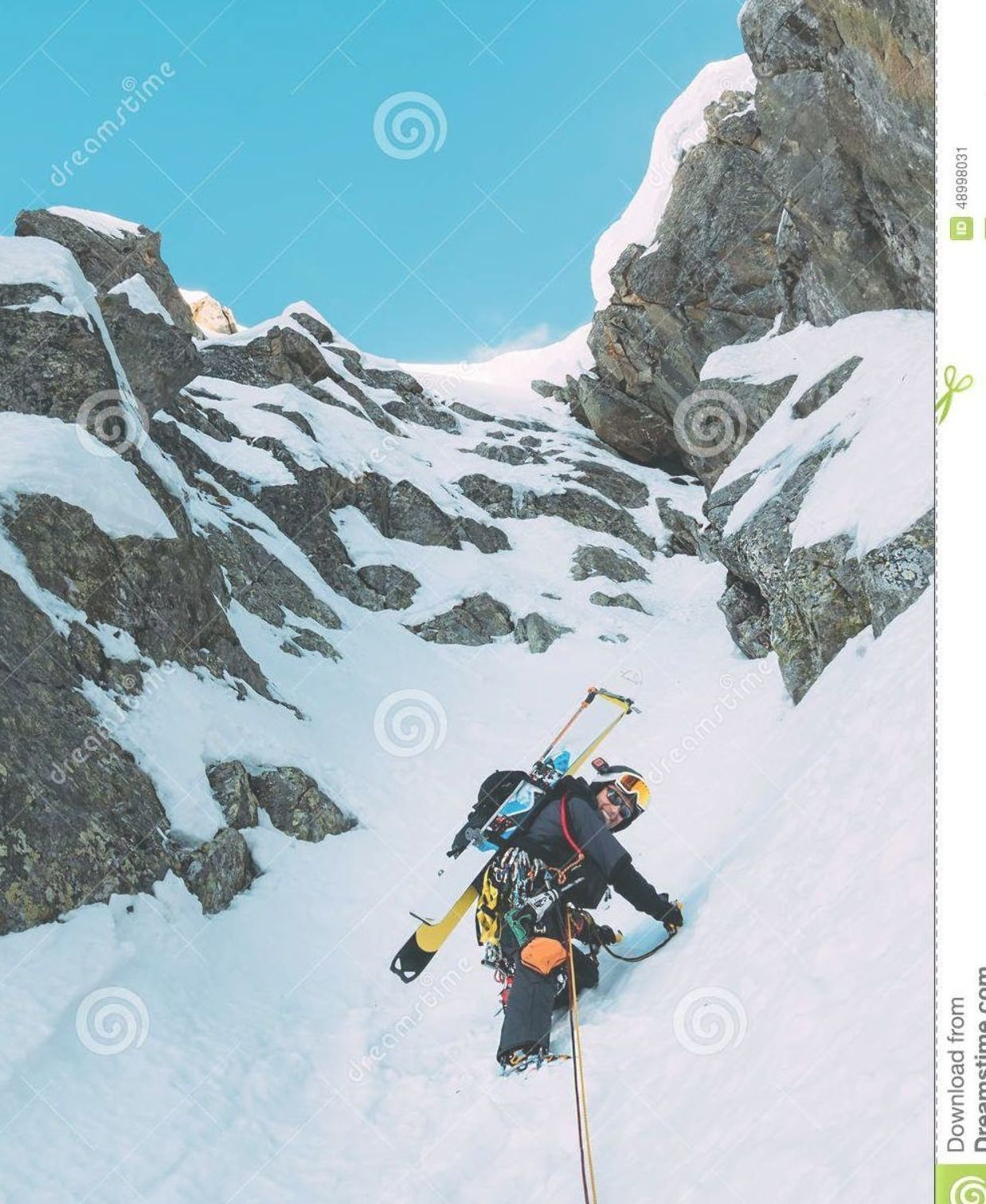 Ice Climbing Mountaineer On A Mixed Route Of Snow And Rock Duri Stock Image  I  Ice Climbing Mountaineer On A Mixed Route Of Snow And Rock Duri Stock Image  Image of clim...