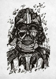 Star Wars Metal Poster Darth Vader 32 x 45 cm