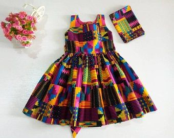 African Print Dress for Girls/African Clothing for