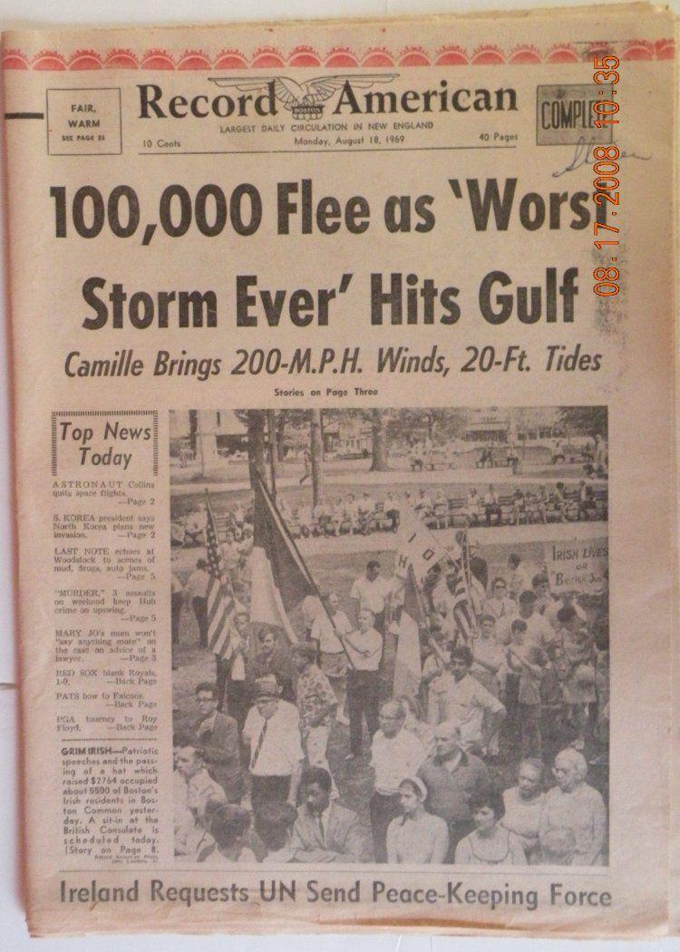 Gulfport Mississippi Hurricanes Historical News Historical Newspaper Hurricane Camille