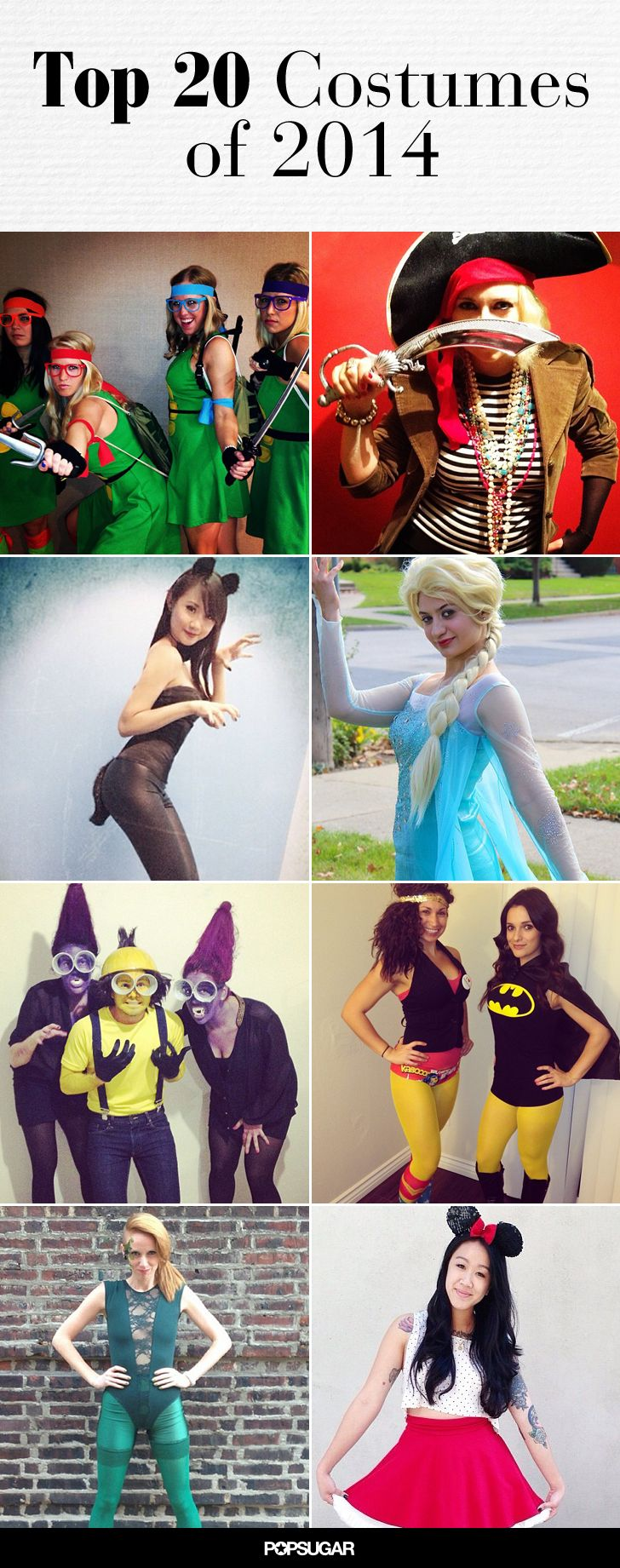 the top 20 halloween costumes of 2014 are easy to diy | party ideas