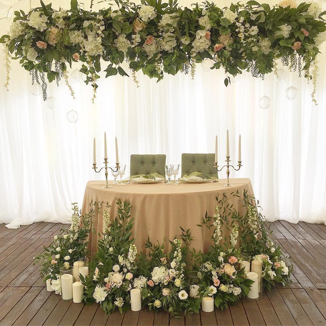 22 Wedding Floral Designs, Arrangements & Unique Head Table | Head ...