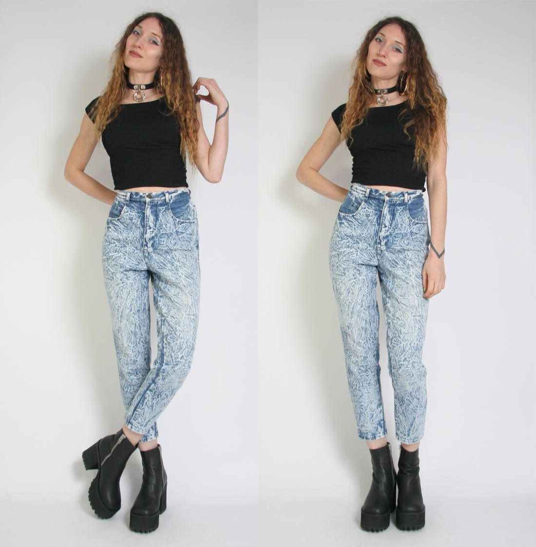 Vintage 90s Acid Wash Jeans - Mom Jeans - High Waisted Jeans ...