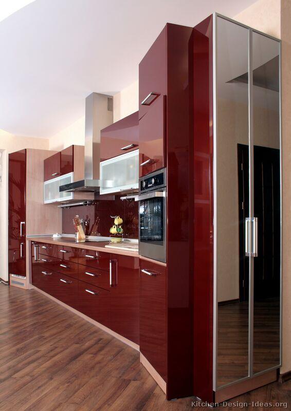 Modern Red Kitchen Cabinets #02 (Kitchen-Design-Ideas.org) | My ...