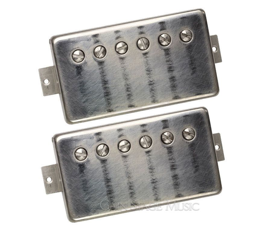 New from Dimarzio. PAF Master Humbucker Guitar Pickups. Set in Worn Nickel  (http://www.gainstagemusic.com/guitar-components/guitar-pickups/paired-sets-6-string-guitar/dimarzio-paf-master-humbucker-guitar-pickup-set-dp260-dp261-worn-nickel/)