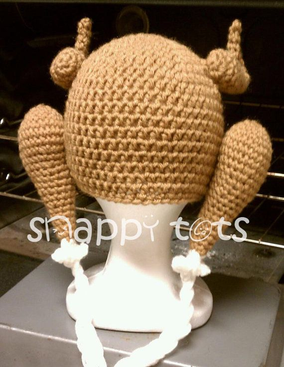 Crochet pattern Cooked Turkey hat all sizes by snappytotscreations ...