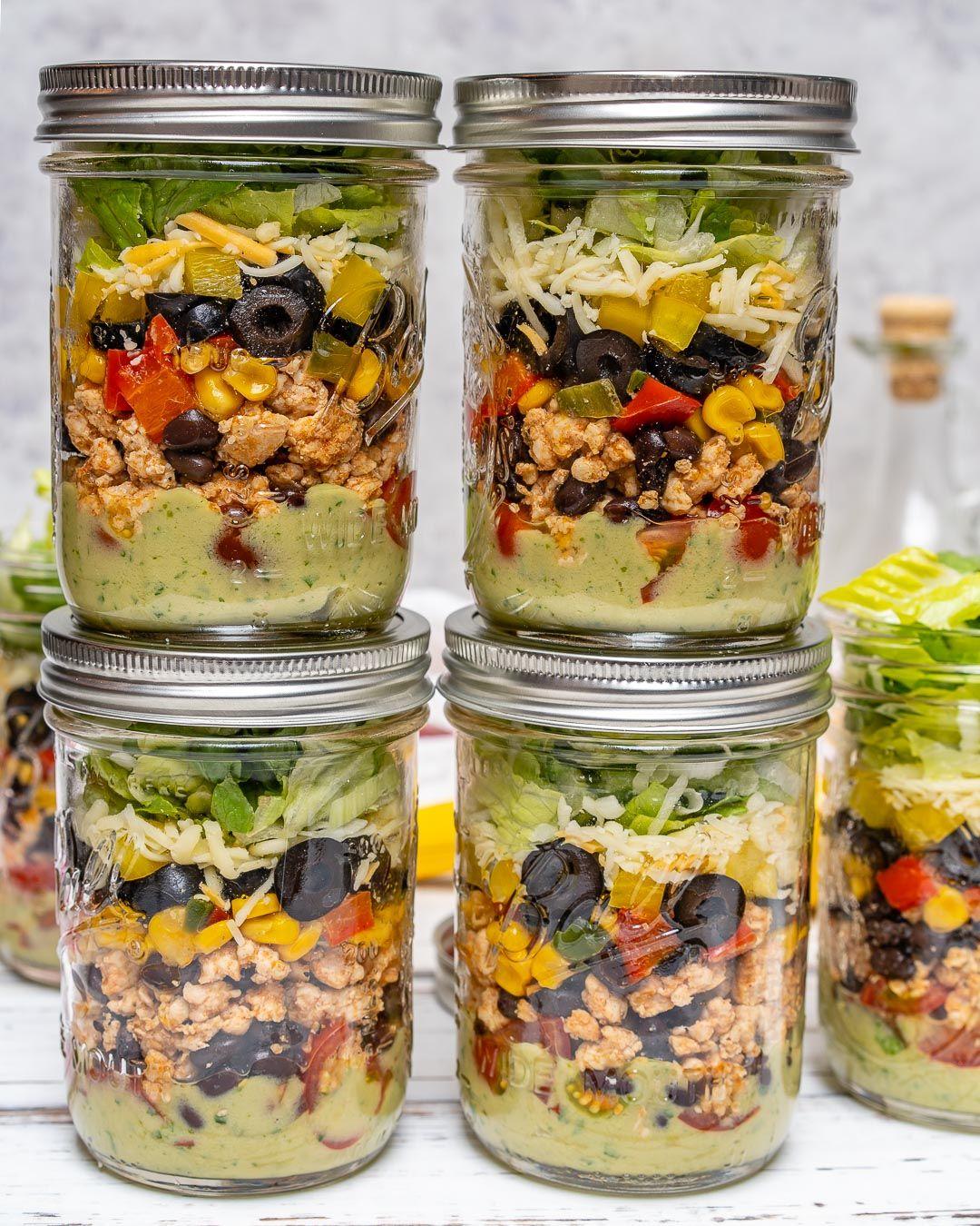 Taco Salad Mason Jar Recipe