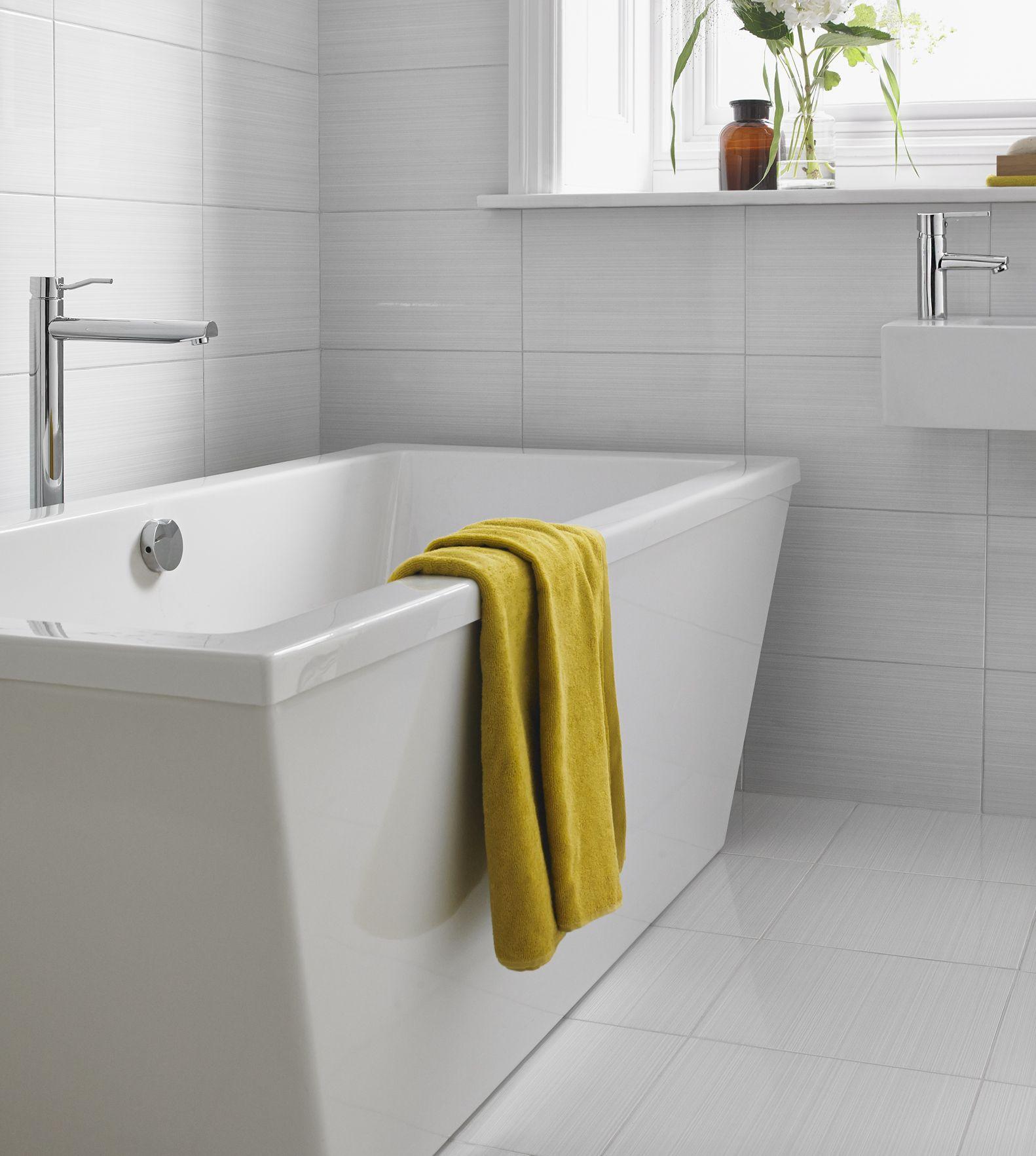 Blairlock White Floor Tile and Wall Tile Styling | Blairlock White ...