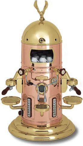 Elektra Coffee Machine Belle Epoque Electronic Copper Brass