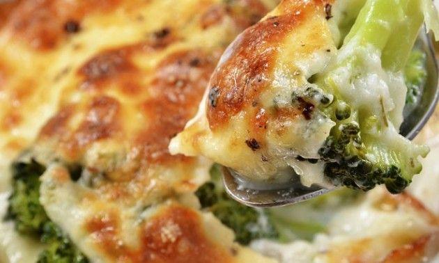 Brócoli gratinado con salsa bechamel, ideal para los niños - Confirmado