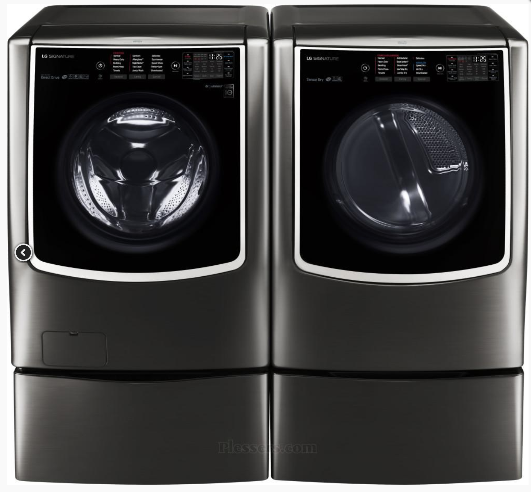 Lg Signature 9 0 Cu Ft Large Smart Wi Fi Enabled Electric Dryer W Turbosteam In 2020 Electric Dryers Signature Electricity