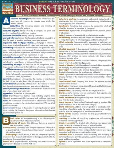 Business Terminology Laminated Reference Guide Marketing ideas