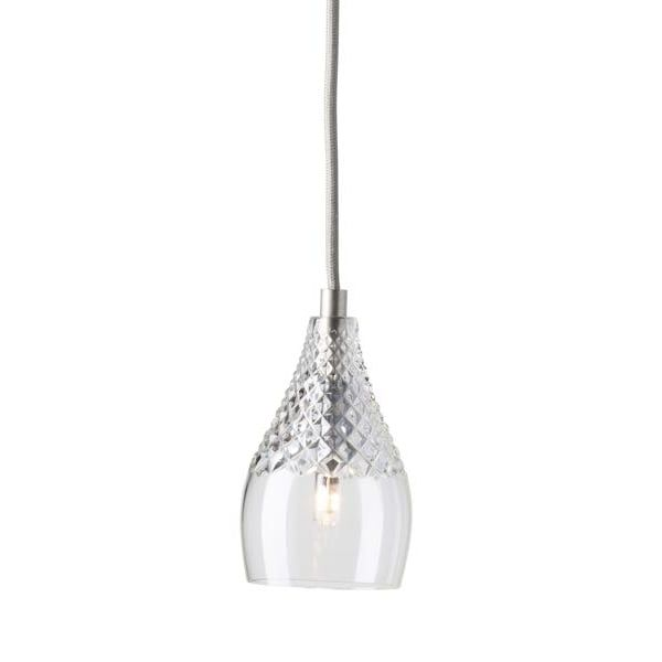Copenhagen Glass Collection HENLEY Lead Crystal Pendant With Silver  Suspension